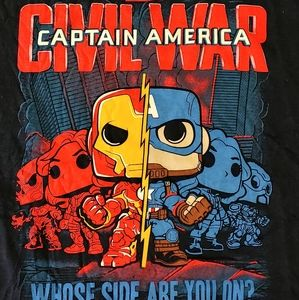 Captain america civil war poptees t shirt
